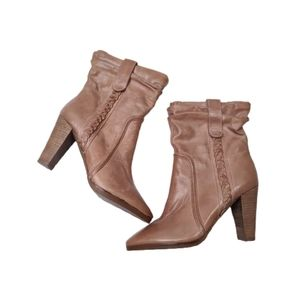 7 For All Mankind Braided Leather Ankle Boots 7